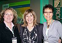 Angie Smith of Choice Estates and WEIs Elaine Simons at the 2008  Prowess Conference with TV presenter Maggie Philbin