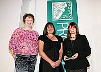 Jane Glaysher-White, Louise Jeffery and Joanne Potts of Rochdale Borough Women's Enterprise Network at the Prowess awards in Blackpool