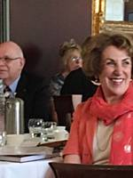 Edwina Currie giving her talk at our Charity Lunch at Nutters May 2018