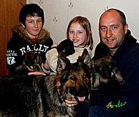 Ruby's family and owner Steve who is a dog handler for Merseyside Police