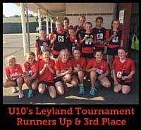 U10's Leyland Tournament Runners Up & 3rd Place 2018