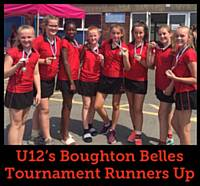 U12's Boughton Belles Tournament Runners Up 2018