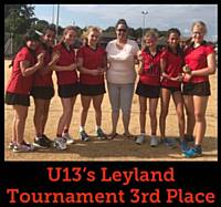U13's Leyland Tournament 3rd Place 2018