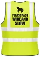 Hi Vis Vests - PASS WIDE & SLOW