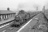 Photo 2. Crab 2-6-0 number 42759 approaching Smithy Bridge   Sunday 9 September 1959. RS Greenwood