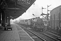 Photo R2  42714 on the Brewery Sidings to Rochdale Saturday Only mid afternoon freight at Rochdale station down Goods Loop, 9th January 1960.  RS Greenwood