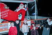 The Rotary Club of Middleton Christmas Float tour the streets of Middleton