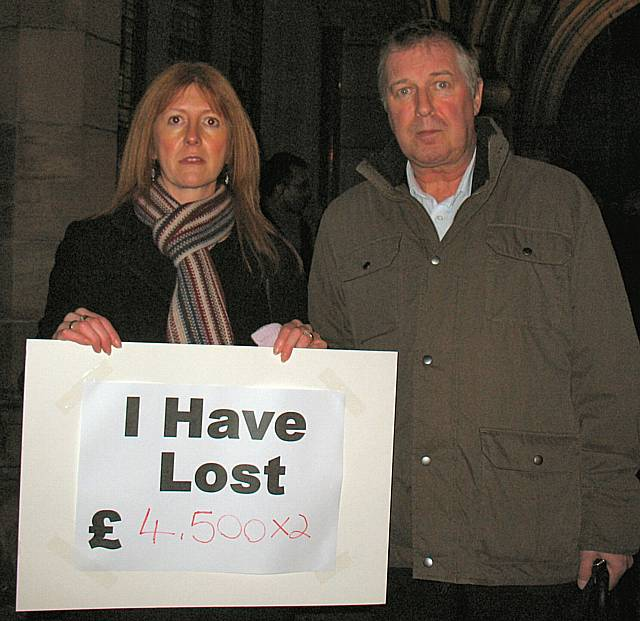 This couple, who are both employed by the Council, expect to lose £9000 between them, while the female employee has not yet been informed of the result of her pay and grading review.