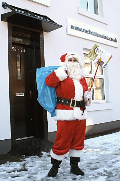 Father Christmas was only at the Rochdale Online office last week, helping out with the Big Clean