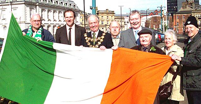 On the mend: Sick council leader makes comeback for St Patrick's Day