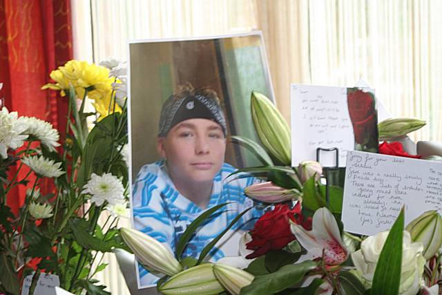 Tragedy: 13-year-old Sam Riley was found hanged on Friday