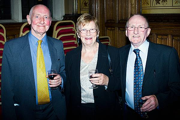 Former councillors Peter Davison and Pat Flynn with Ted Flynn (right)