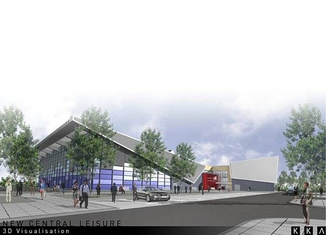 An artists' impression of the new leisure centre