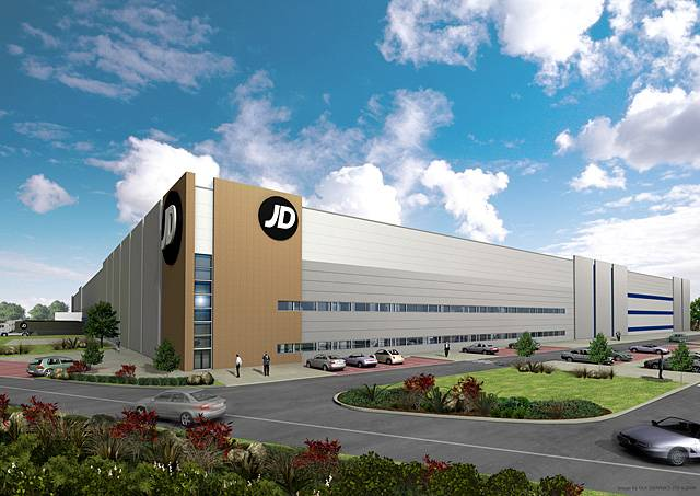 Artist's impression of the JD Sports distribution centre