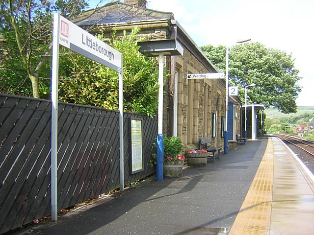 Littleborough station on the Calder Valley Line