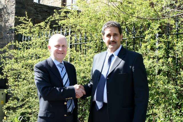 The Leader of the Conservative party, Councillor Ashley Dearnley with Councillor Shah Wazir
