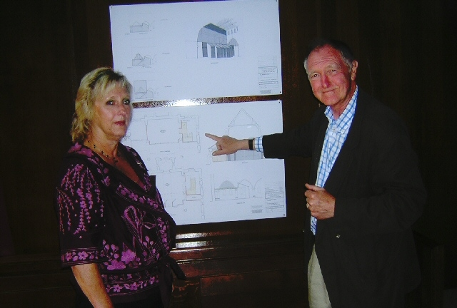 Stuart Carmichael in 2011 showing plans to extend and improve the St Andrew's Church community facilities