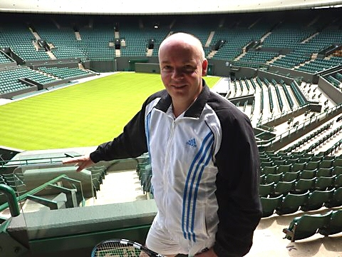 Dave Gartside at Wimbledon