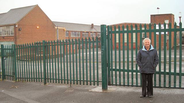 Cllr Pat Colclough at the Ex Waterloo Road site