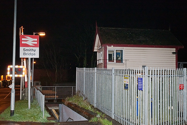 Smithy Bridge Station Signal Box