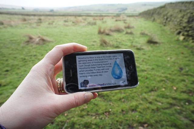 Podscroll being used in the South Pennines near Worsethorne