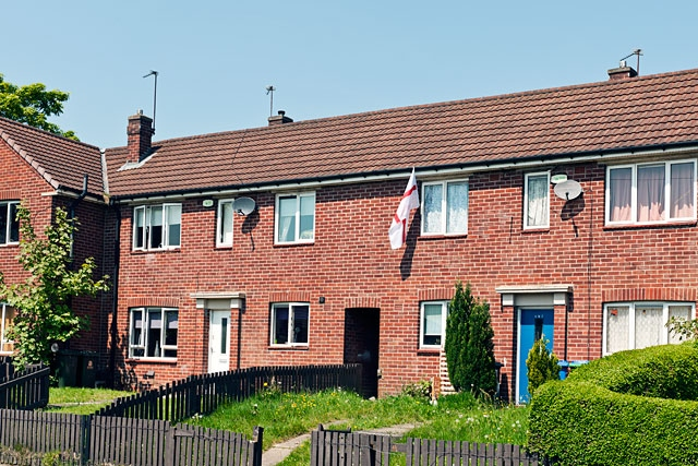 Former council houses on Hill Top Drive, Kirkholt (stock photo)