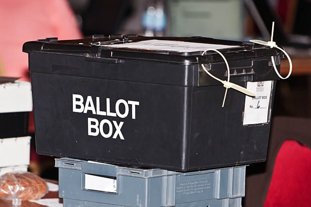 A ballot box waiting to be opened