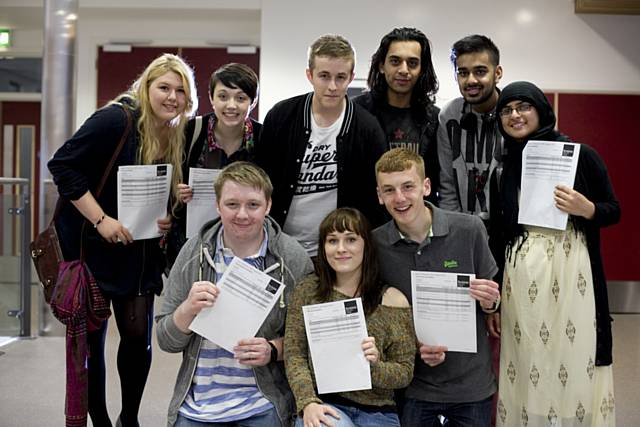 Rochdale Sixth Form college students