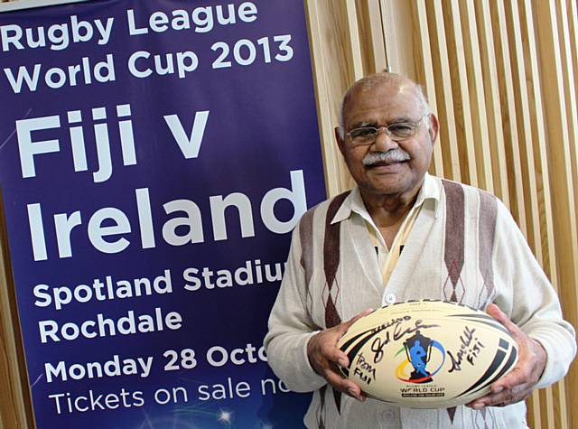 Fijian born Rochdale resident Voate Drui (81). Fiji's link with Rochdale means the south pacific islanders will be very much at home against Ireland in the Rugby League World Cup