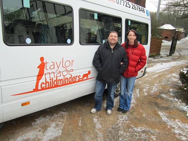 Jon Paul and Sarah Taylor, of Taylor Made Childminders