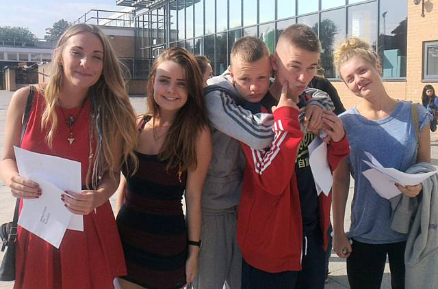 Oulder Hill students celebrate their GCSE results