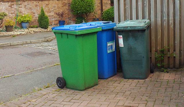 bins recycling collection dates