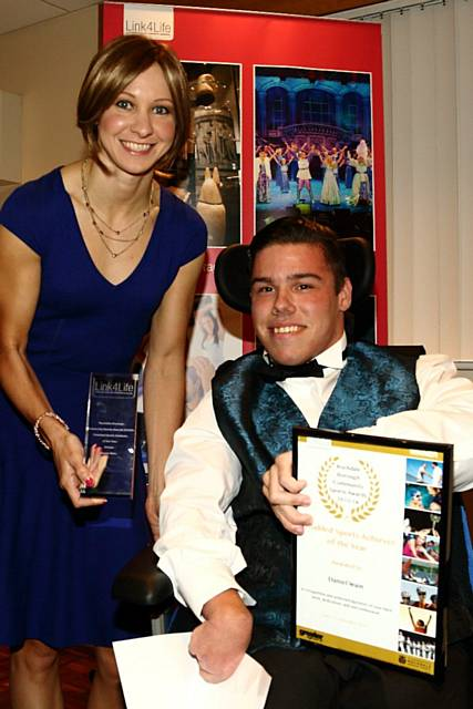 Disabled Sports Achiever of the Year winner  Daniel Wain and Joanna Rowsell MBE