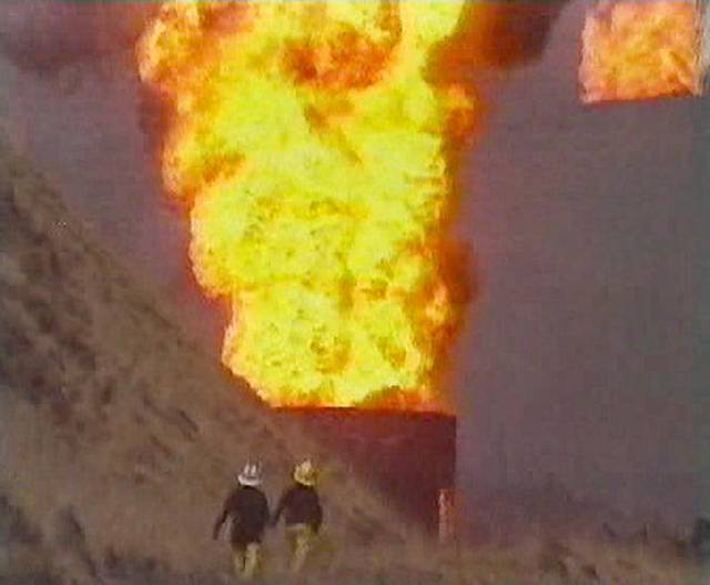 Thousands of gallons of petrol burned sending flames hundreds of feet in the air via the ventilation tunnels