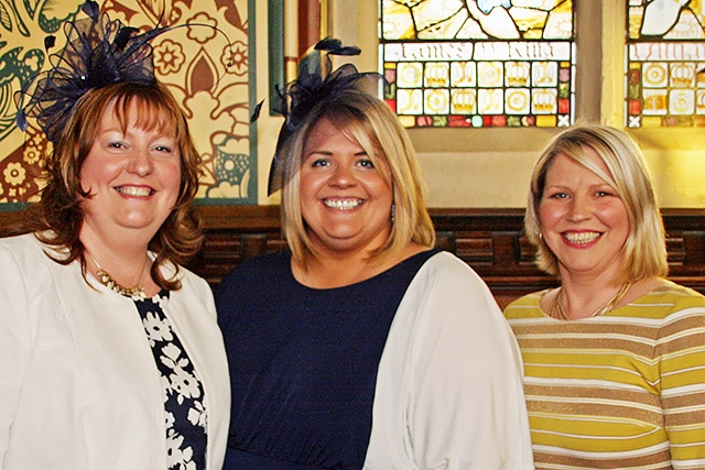 Sarah Ford, Alison McGuigan and Lillie Winterbottom from Springhill Hospice