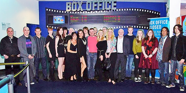 Cast and crew at the première of 'And She Cried'