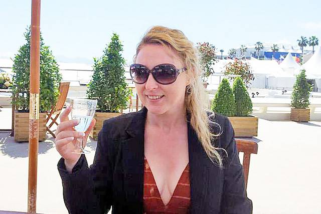 Amanda Fleming at the Cannes Film Festival