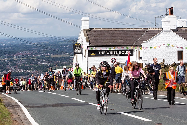 The White House pub was extraordinarily busy for the Tour de France
