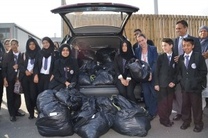 Falinge Park High School clothes collection for the refugee crisis