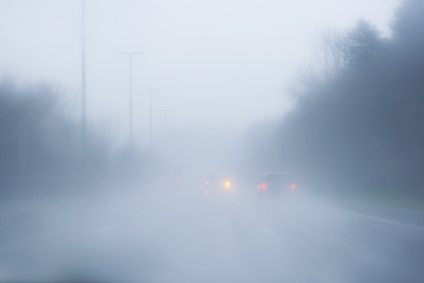 Fog warning: travel may be impacted by poor visibility