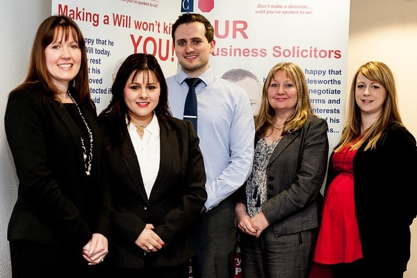 Molesworths Bright Clegg Solicitors five new associates, Lesley Rhodes, Jo Khan, Richard Mason, Joanne Astridge and Joanne Ford