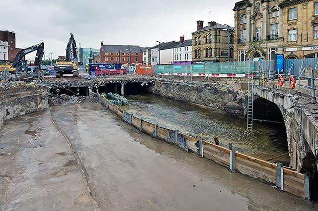 Uncovering the River Roch in Rochdale Town Centre