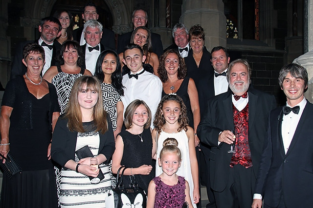Northern Lights Charity Ball<br />Event sponsors and guests with Professor Brian Cox