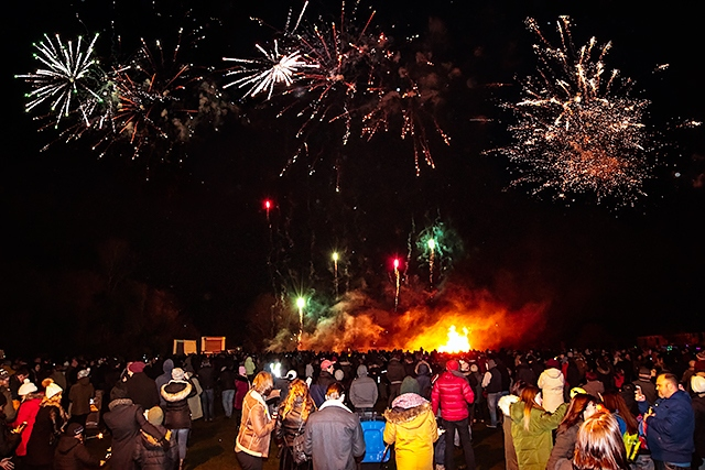 Norden bonfire and firework display 2016