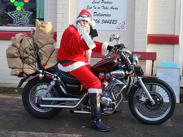 Critters Motorcycle Club Santa