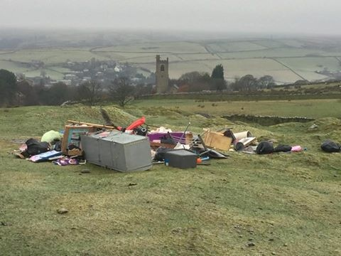 Fly-tipping at Lobden