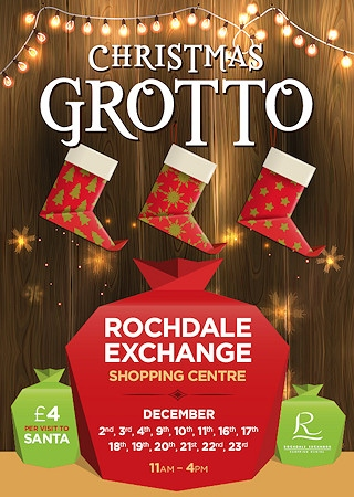 Santa's Grotto will be open at Rochdale Exchange every Friday, Saturday and Sunday in December and  Monday 19 to Friday 23.