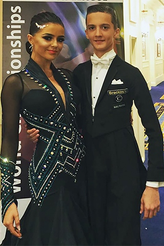 Mia Linnik-Holden and Andrei Toader at the World Dance Championships in Paris last year