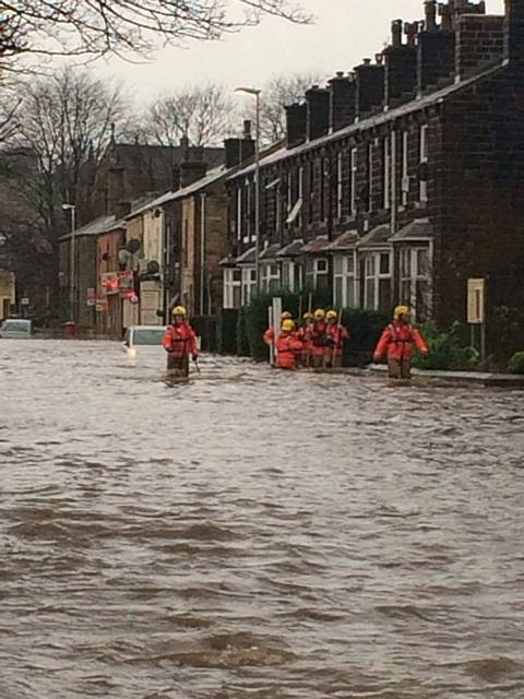 Flooding in Littleborough