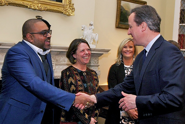 Mohammed Sheraz meets Prime Minister David Cameron